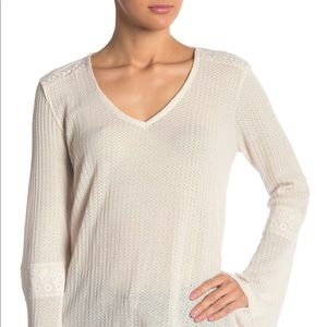 {Lucky Brand} NWT Thermal Belle Sleeve Top